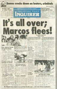 Philippine Daily Inquirer Headline, the Filipinos' prayers were answered