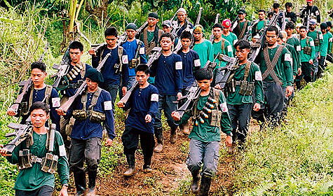 An NPA platoon marches in this undated photo.Image taken from www.asiainsider.net