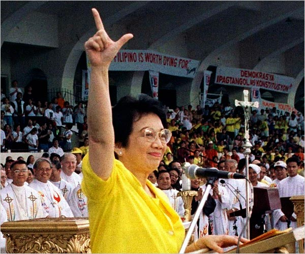 The late former President Corazon Aquino. Photo from www.nytimes.com