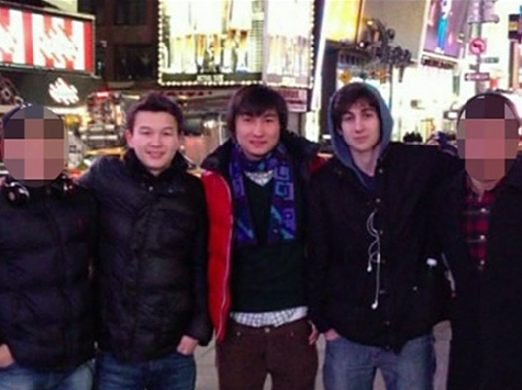 Dzhokhar Tsarnaev on the left with pals Azamat Tazhayakov (left) and  Dias Kadyrbayev, Photo taken from www.nbcnews.com