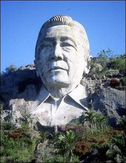 Using taxpayer money, Ferdinand had this ostentatious stone monument of himself erected in his home province of Ilocos Norte.