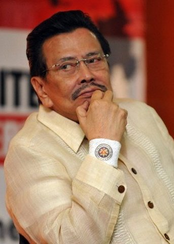 Convicted former Philippine president Joseph Estrada.