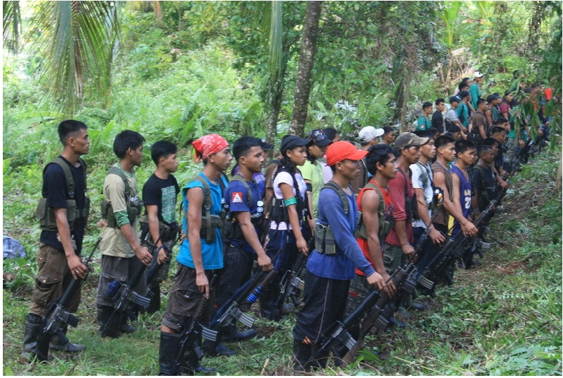 NPA fighters perform drills in this undated photo. Taken from the official CPP-NPA website.