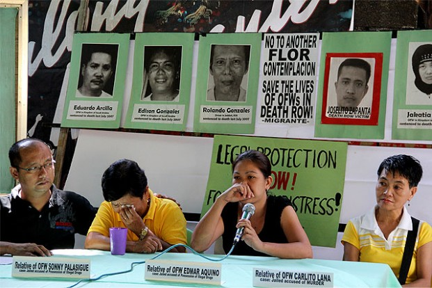Overseas workers group Migrante calls for the resolution of the cases of Filipinos in death row in China.