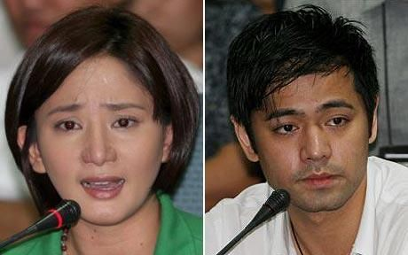 Katrina Halili and Hayden Kho answer the Senate during their much-publicized inquiry.