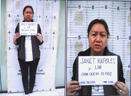 Janet Napoles is taking the full blame for the scandal while she shouldn't.