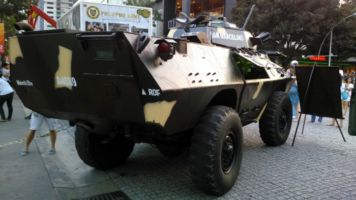 Right-Rear Side view of a V-150 Infantry Fighting Vehicle